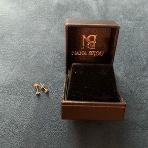 Nana Bijou 14K Gold Trinity Ball Cluster Earrings